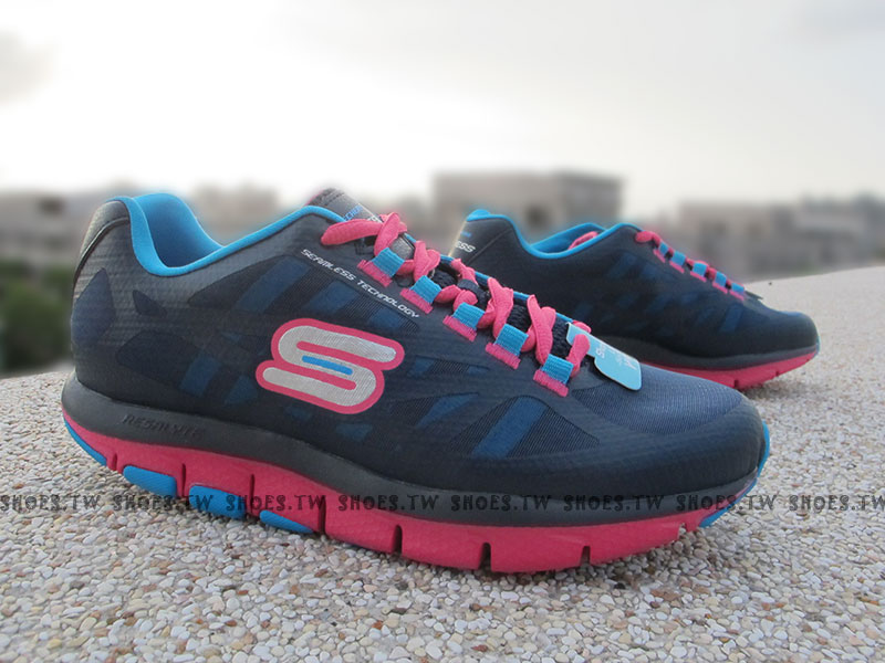 [24.5cm]《降價6.5折》Shoestw【99999871NVPK】SKECHERS 健走鞋 U型鞋設計 SHAPE UPS 記憶乳膠鞋墊 深藍桃