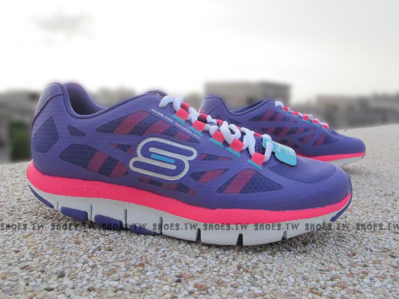 Shoestw【99999871PUR】SKECHERS 健走鞋 U型鞋設計 SHAPE UPS 記憶乳膠鞋墊 紫桃