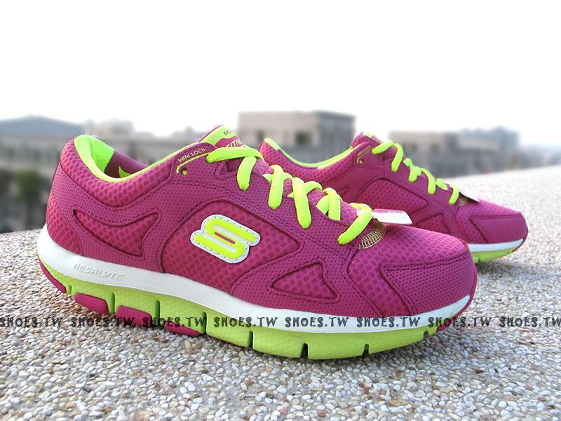 [25.5cm]《降價62折》【12479HPLM】SKECHERS 陳意涵代言 慢跑鞋 健走鞋 U型鞋設計 SHAPE UPS 記憶鞋墊 桃螢光綠 女款