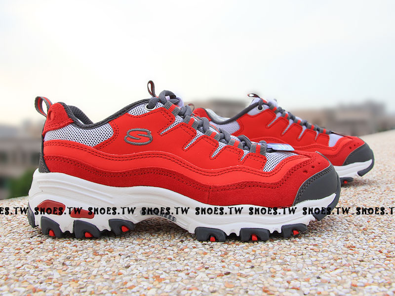 【99999755RDGY】SKECHERS健走D'Lites Extreme Collection 紅灰 女款