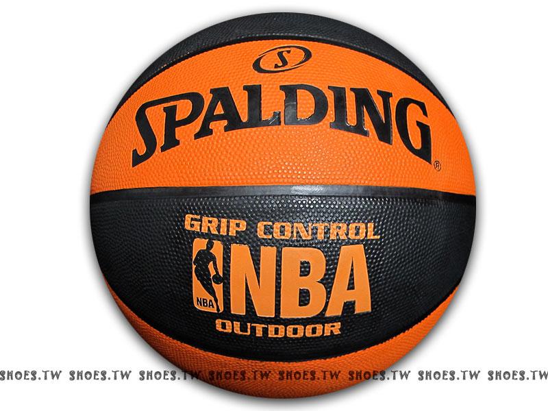 鞋殿【SPA73298】斯伯丁籃球 SPALDING GRIP CONTROL 黏手 室外球 黒橘 雙色