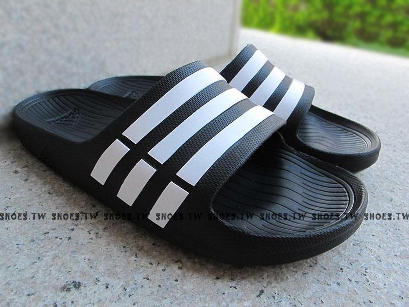 鞋殿【G15890】ADIDAS DURAMO SLIDE 拖鞋 一體成型 黑色 男女都有