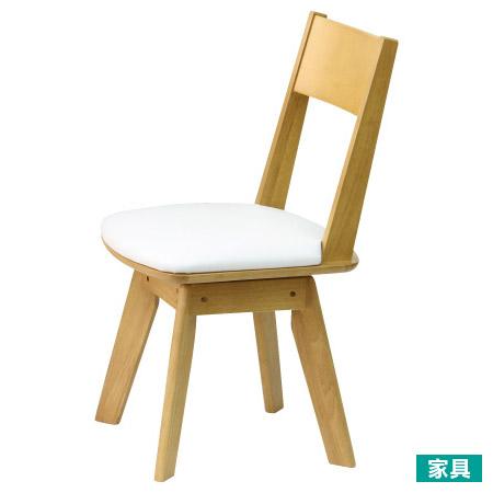 ◎天然木旋轉式餐椅 淺褐色 PIA2 LBR TW