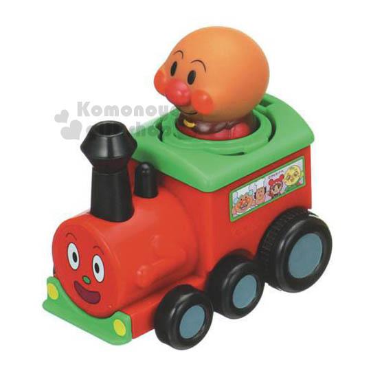 〔小禮堂嬰幼館〕麵包超人 火車頭玩具車《紅.大臉》增添親子間的親密度