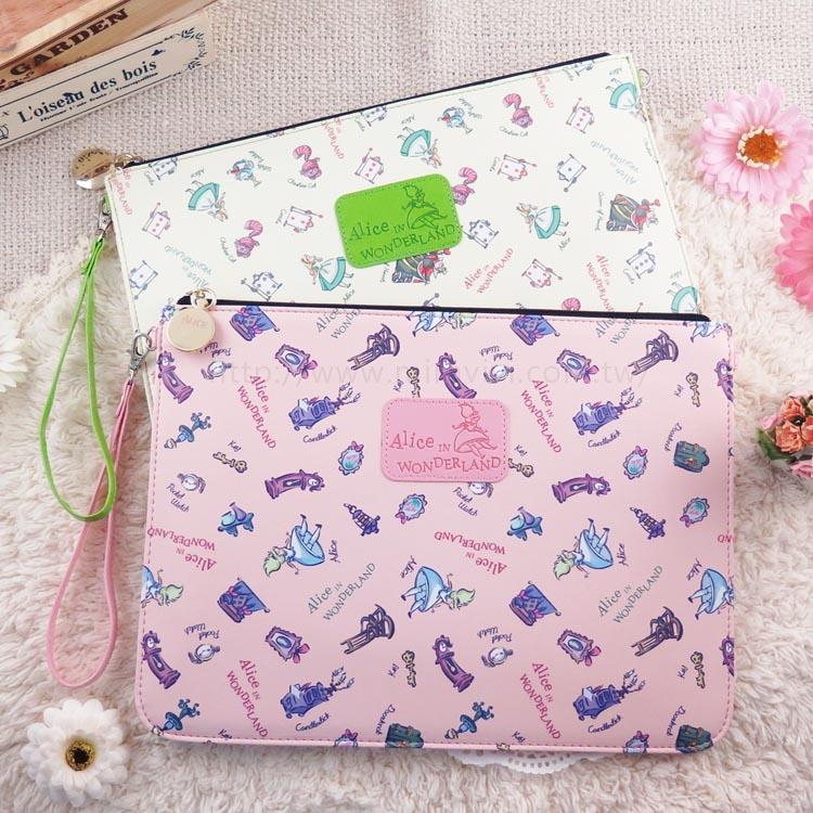 【Disney】迪士尼愛麗絲夢遊仙境10吋通用平板皮套/保護包/萬用包/手拿包