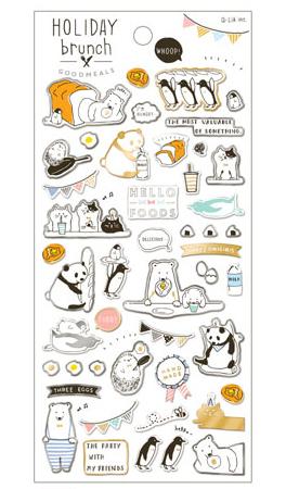 *小徑文化*日本進口 Q-Lia 箔押透明貼紙系列 - 假日早午餐 ( 11096 )