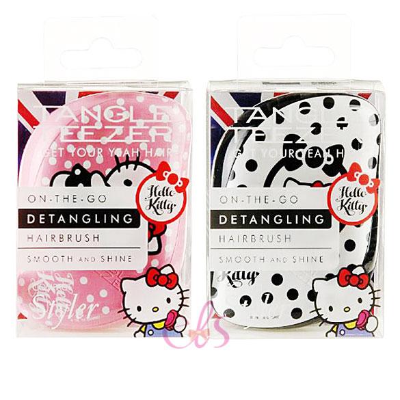英國TANGLE TEEZER Hello Kitty 撫平毛躁美髮梳 黑白/粉紅 兩款供選 ☆艾莉莎ELS☆