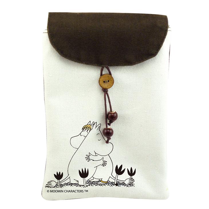 Moomin嚕嚕米正版授權 - 手機袋:【 有你在真好 】