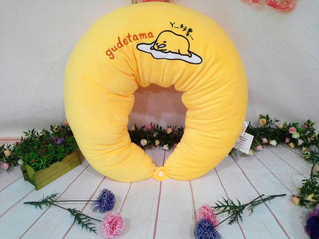 ~*My 71*~  絨毛娃娃 18吋 蛋黃哥月亮枕 高 50cm 抱枕 靠枕 腰枕 孕婦枕 好累ㄚ..車枕