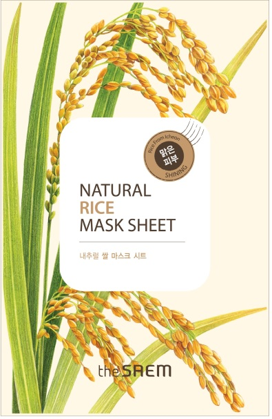 韓國the SAEM Natural 美顏稻米面膜 21ml Natural Rice Mask Sheet (New)【辰湘國際】