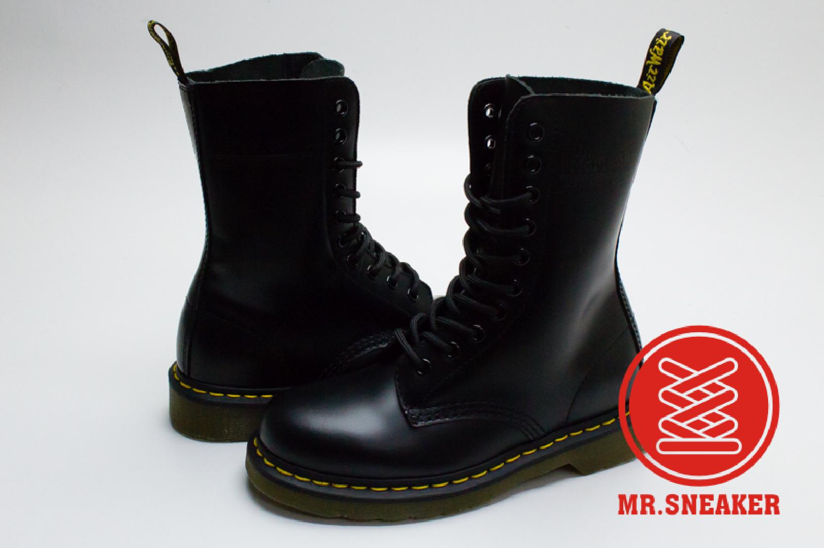 ☆Mr.Sneaker☆ Dr.Martens 1490 10孔 馬汀 靴子 經典 百搭 硬皮 黑色 台灣公司貨 女段