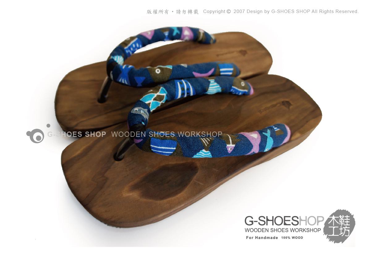 ◎g-shoes shop木鞋工坊 ◎**木屐** D05031-40圓帶夾式木屐拖(吸濕排汗)可做親子鞋
