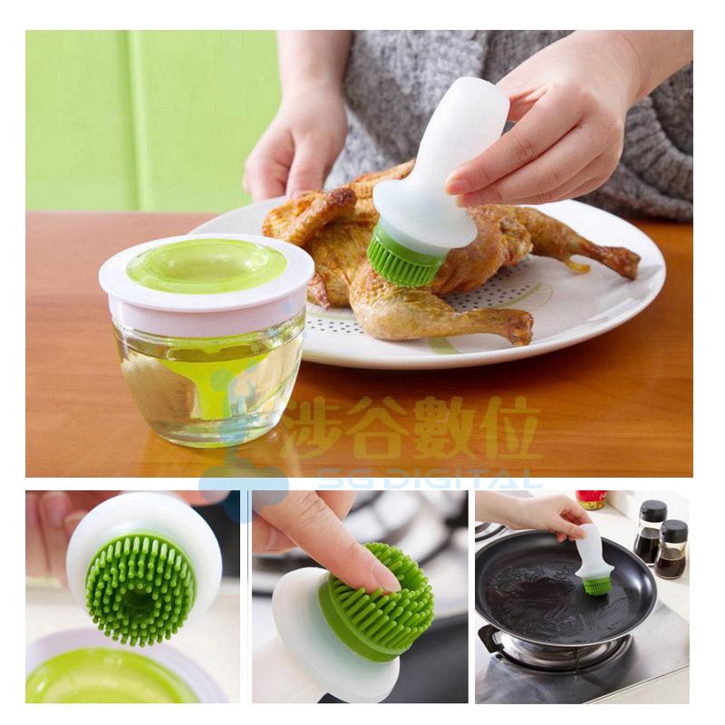 烹飪糕點必備 日本矽膠耐高溫 烘培 矽膠 燒烤刷 油刷 廚房~斯瑪鋒數位~