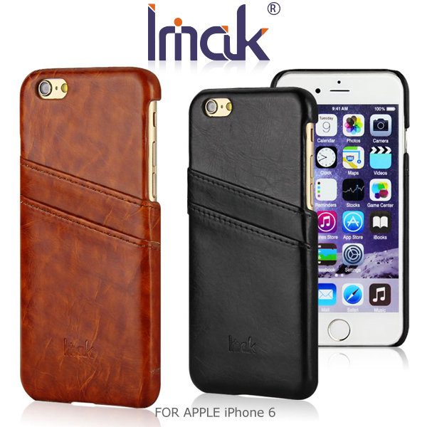 IMAK APPLE iPhone 6 4.7吋 睿智系列後插卡保護殼 可插雙卡 皮面背殼 保護殼 保護套~斯瑪鋒科技~