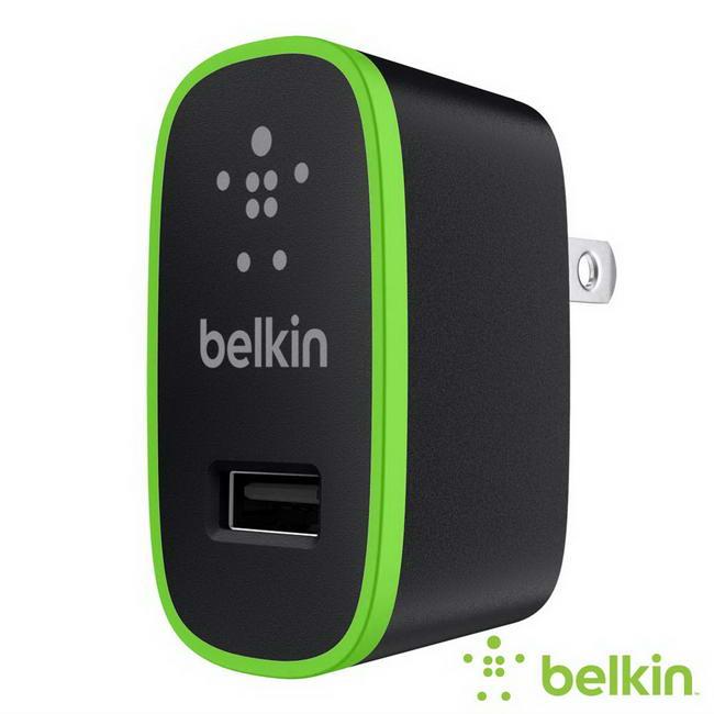 美國品牌 倍爾金Belkin 2.1A USB 充電器 充電速度快30% 全球Apple直營店指定商品~斯瑪鋒科技~
