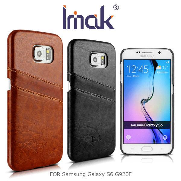 IMAK Samsung S6 G920F/S6 EDGE G9250 睿智後插卡保護殼 可插雙卡 皮面背殼