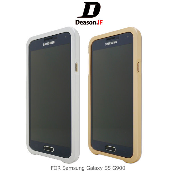 ~斯瑪鋒科技~Deason.iF Samsung Galaxy S5 免螺絲 鋁合金 金屬 磁扣邊框 金/銀色 按鍵免安裝 送iLuv 隨身喇叭~