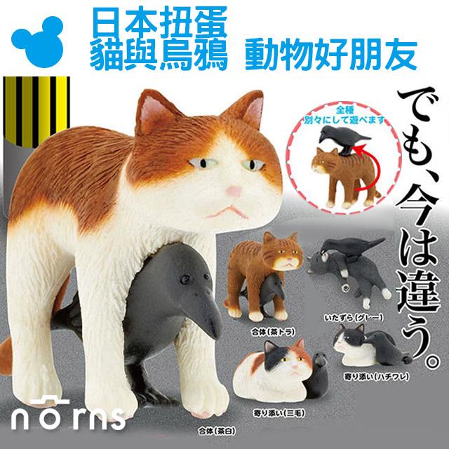 NORNS【日本扭蛋 貓與烏鴉 動物好朋友】奇譚俱樂部 KITAN貓咪 日本轉蛋 玩具 公仔 收藏