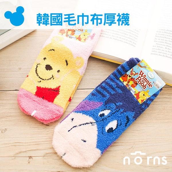 NORNS 【韓國毛巾布厚襪】小熊維尼 Winnie the Pooh Eeyore 伊耳 Disney