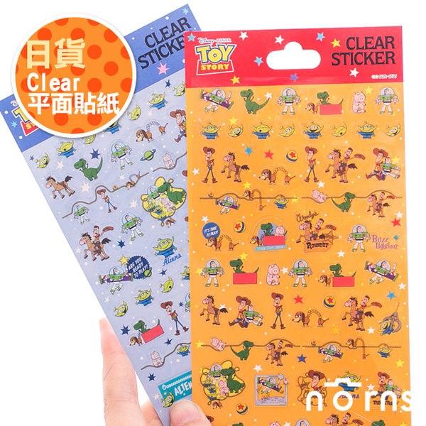 NORNS 【日貨clear平面貼紙】裝飾 玩具總動員 胡迪 巴斯光年 三眼怪