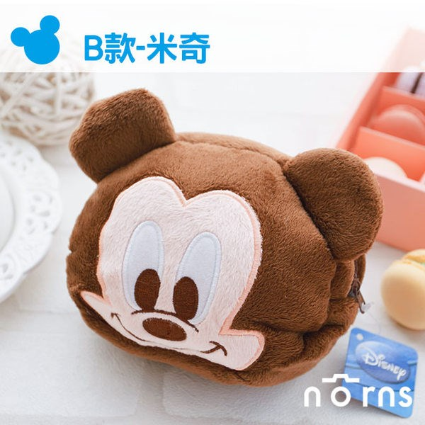 NORNS 【B款Mickey米奇拉鍊包】 迪士尼正版卡通絨毛束口袋 拍立得相機包