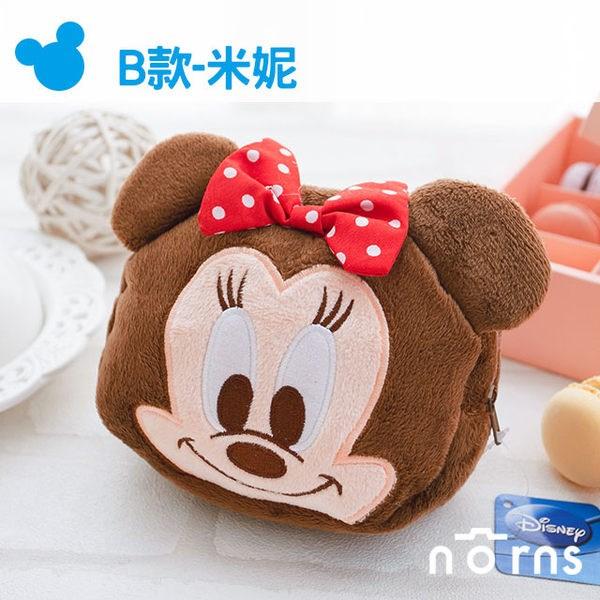 NORNS 【B款Minnie米妮拉鍊包】 迪士尼正版卡通絨毛束口袋 拍立得相機包