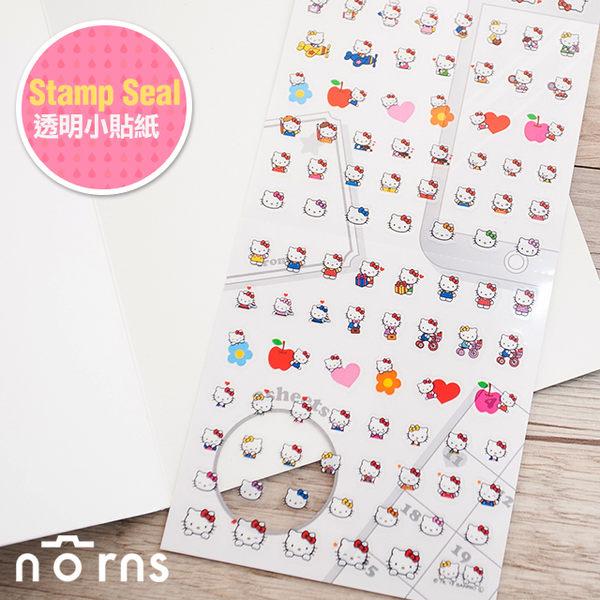 NORNS  日貨【Stamp Seal透明小貼紙 Hello Kitty款】SANRIO 手帳 拍立得裝飾貼紙