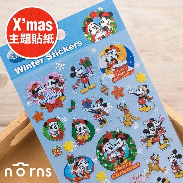 NORNS 【日貨主題貼紙 米老鼠】Mickey 米奇 米妮 聖誕節 卡片 裝飾 Christmas