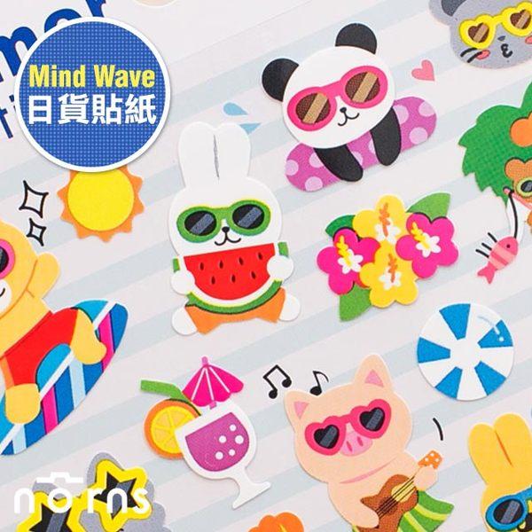 NORNS 【日貨mind wave貼紙 Summer戴墨鏡動物】手帳 卡片 行事曆 拍立得照片 裝飾