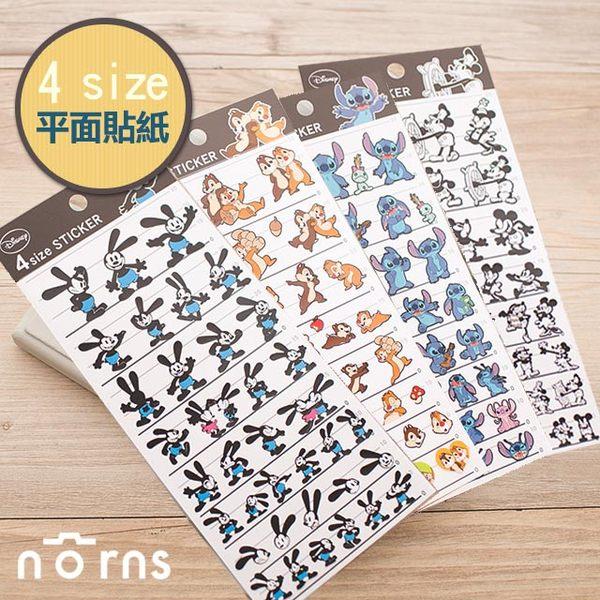NORNS 日貨【4size貼紙-迪士尼經典】奧斯華 米老鼠 史迪奇 奇奇 蒂蒂 裝飾貼紙 手帳 行事曆