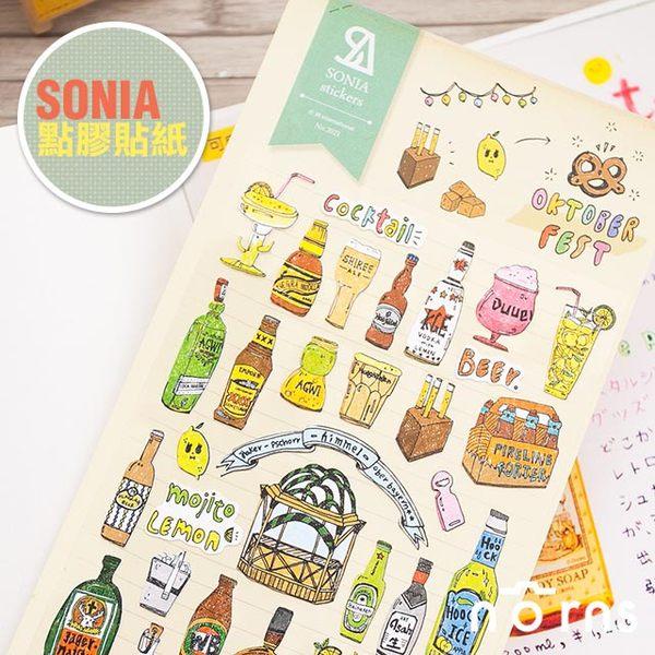 NORNS 韓國【SONIA 啤酒節 貼紙】日記 手帳 行事曆 拍立得照片 裝飾貼紙
