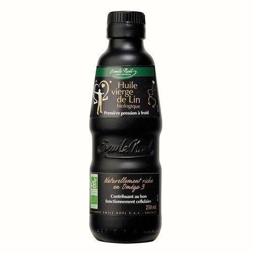 好食多 艾米爾諾耶 100%冷壓初榨亞麻仁油 250ml 原價$399-特價$359 玻璃烤漆瓶 法國原裝