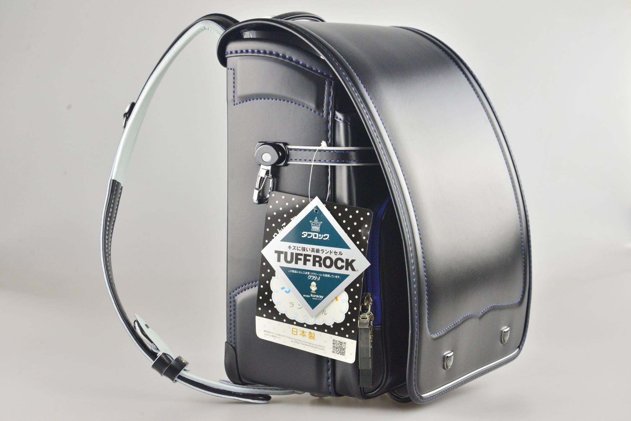 日本協和製黑色滾藍線自動上鎖小學生書包(新貨上架)