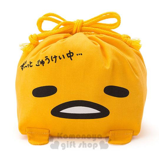 〔小禮堂〕蛋黃哥 日製造型束口便當袋《黃.大臉》