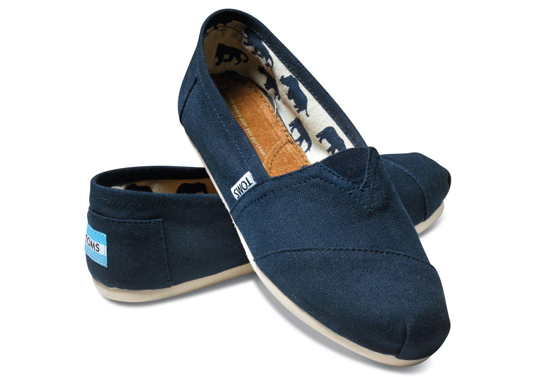 TOMS Canvas Classics 素面藍色平底鞋 現貨+預購