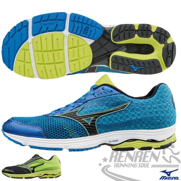 MIZUNO 美津濃 WAVE SAYONARA 3 男慢跑鞋(藍*綠) 2015新款 超輕量 路跑訓練
