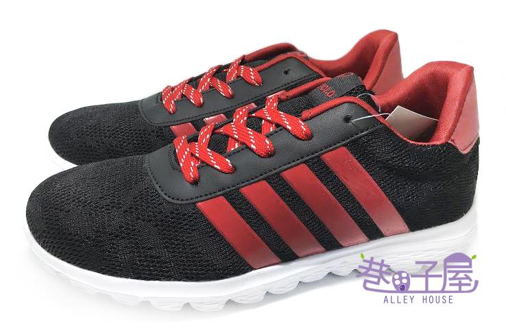 【巷子屋】JIMMY POLO 男款透氣超輕量運動慢跑鞋 [68046] 黑紅 超值價$298