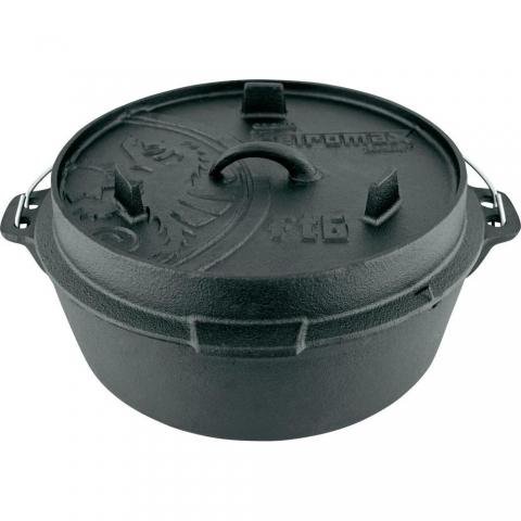 【露營趣】中和 德國 Petromax FT6-T Dutch Oven 鑄鐵鍋 荷蘭鍋 12吋