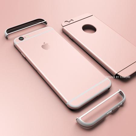iPhone 6 6s Plus 完美超高質感全包覆保護殼 玫瑰金 硬殼 手感佳 保護套 手機殼 蘋果6 i6s【N201095】