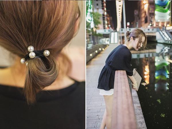高彈力珍珠髮帶 髮束《不挑色》