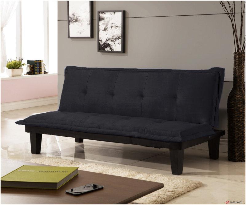 !!新生活家具!! 布沙發床 黑色 沙發床 三人位沙發床 限時特價 伊梧奺 非 H&D ikea 宜家