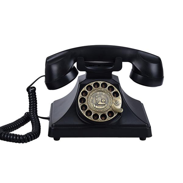 古制工藝-古董旋轉撥號仿古老式電話機復古轉盤座機十天預購+現貨
