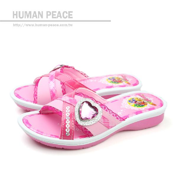 光之美少女 Smile 寶石 蕾絲 舒適 清涼 拖鞋 戶外休閒鞋 粉 中童 no455