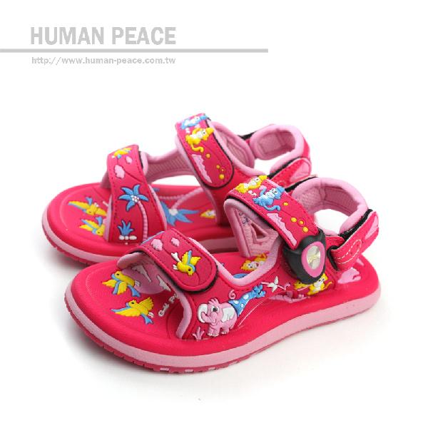 G.P(Gold.Pigon) 磁扣 涼鞋 戶外休閒鞋 桃紅 中童 no565