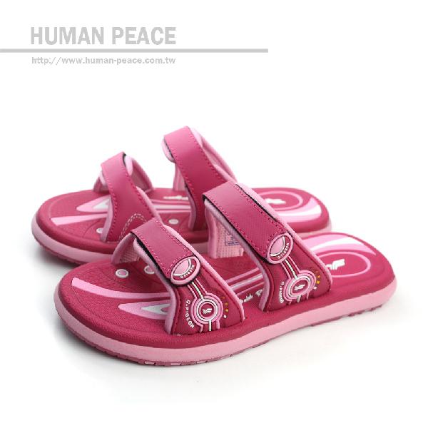 G.P(Gold.Pigon) 拖鞋 戶外休閒鞋 桃紅 中童 no574