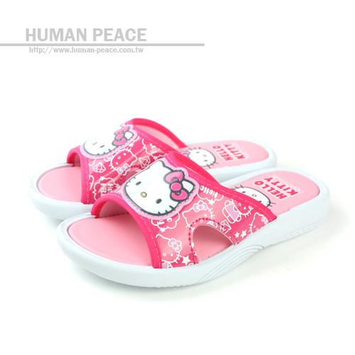 Hello Kitty 凱蒂貓 KITTY 舒適 透氣 清涼 拖鞋 戶外休閒鞋 桃紅 中童 no490