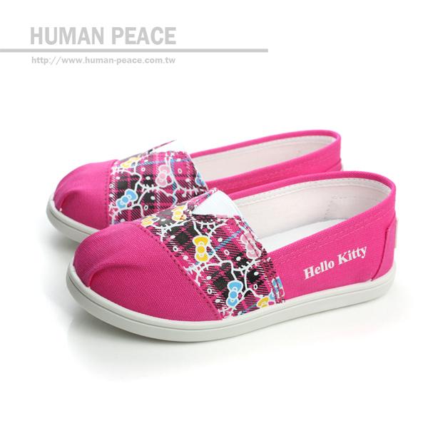 Hello Kitty 凱蒂貓 KITTY 懶人鞋 戶外休閒鞋 桃紅 中童 no588