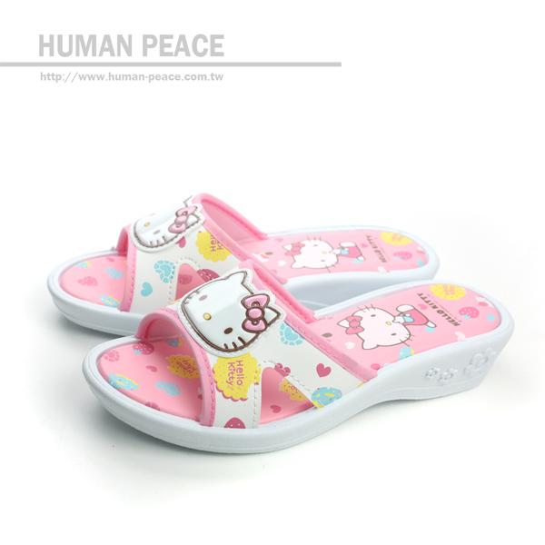 Hello Kitty 凱蒂貓 KITTY 拖鞋 戶外休閒鞋 白 中童 no594