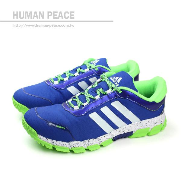 adidas cw oscillate 皮革 網布 舒適 抗震 跑鞋 戶外休閒鞋 藍 男款 no939