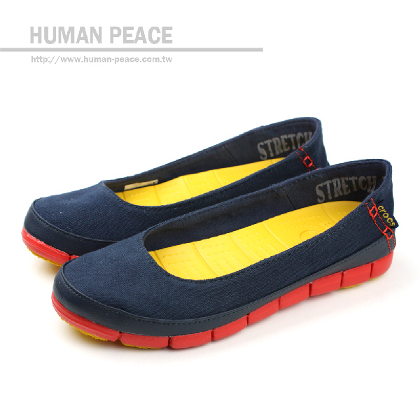 Crocs 帆布 舒適 輕巧 輕便鞋 戶外休閒鞋 深藍 女款 no209